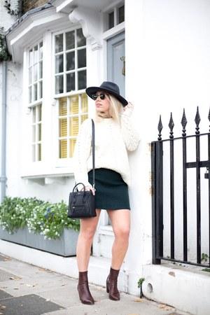 dark green wool skirt skirt