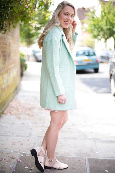 pastel coat Sheinside coat