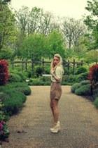 moss blouse virgos lounge blouse - old Topshop shorts - snakeskin Boohoo heels