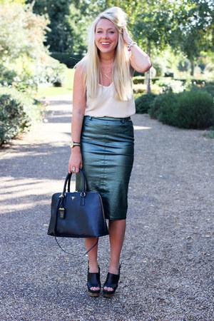 metallic Zara skirt