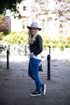 skinny jeans whistles jeans - fedora asos hat