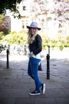 skinny jeans whistles jeans - fedora asos hat