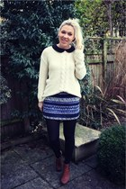 Monki jumper - mina blouse - Zara skirt