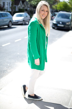 green coat Zara jacket
