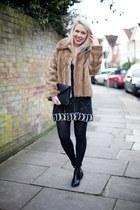 faux fur vintage coat - swing dress free people dress