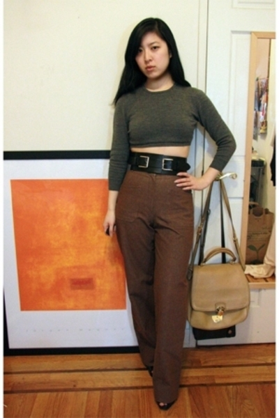 Sisley top - Allan Waller pants - vintage belt