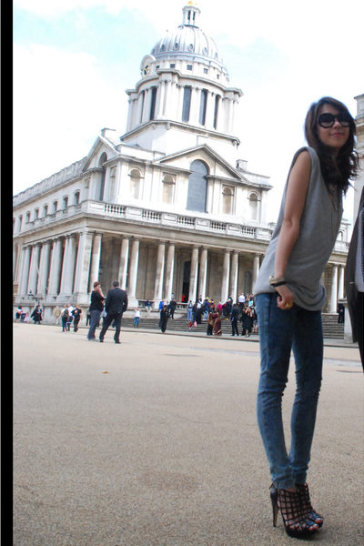 River Island top - Topshop jeans - Topshop shoes - Zara sunglasses