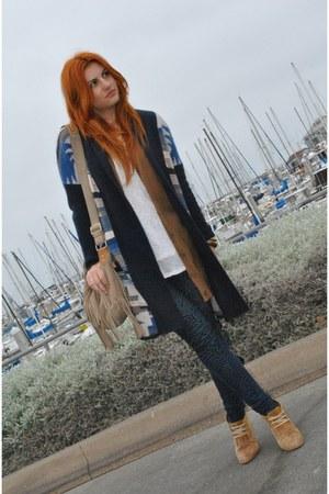 navy zebra print Angel Kiss jeans - navy aztec print H&M jacket