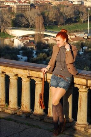 Zara jacket - vintage bag - Stradivarius shorts - Zara top