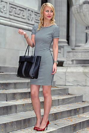 Dynamite dress - gray bow ZAC Zac Posen bag - ruby red Jessica Simpson heels