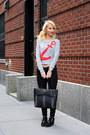 Black-zigi-soho-boots-heather-gray-cropped-dynamite-sweater