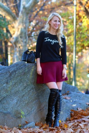 black imagine Smart Set sweater - black Guess boots