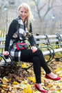 Black-plaid-sheinside-coat-black-skinny-dynamite-jeans