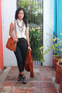 Burnt-orange-cropped-mike-dela-rosa-blazer-tawny-bought-online-bag