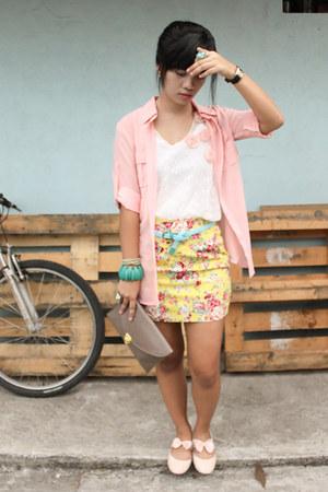 light pink Soul Sister Clothing top - ivory Anti-Fashion Manila top