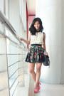 Ivory-posh-wardrobe-top-coral-chick-flick-heels