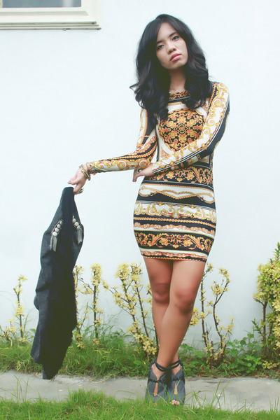 gold Topshop dress