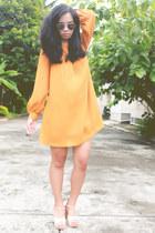 mustard H&M dress
