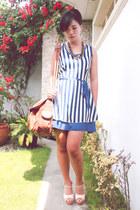 eggshell Chick Flick shoes - navy PINK FASHION dress