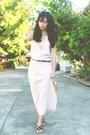 Camel-southshore-bag-black-parisian-sandals-peach-vintage-skirt
