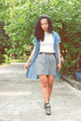 Heather-gray-forever-21-skirt-charcoal-gray-charles-keith-heels