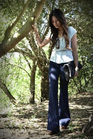 navy J Brand jeans - light blue f21 top