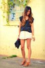 Neutral-h-m-shorts-black-lux-top-brown-jeffrey-campbell-sandals