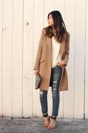 camel masculine coat Zara coat