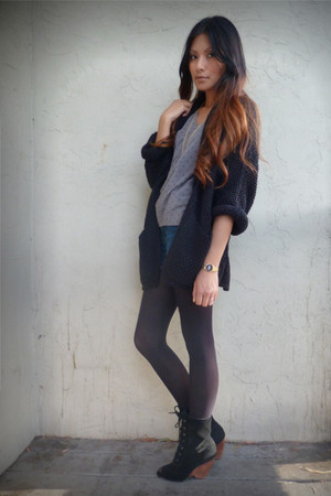black Topshop cardigan