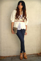 love21 top - Jeffrey Campbell shoes - Joes Jeans jeans - Vintage Gucci bag