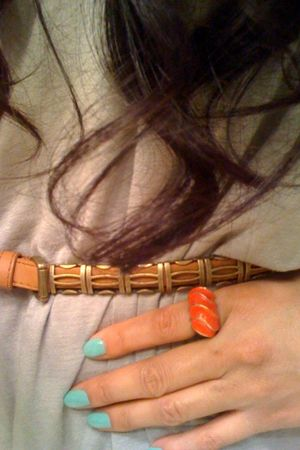 green RGB accessories - orange f21 accessories - gold f21 belt