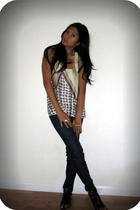 reformed top - Miss Sixty jeans - Deena & Ozzy shoes