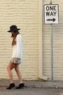 Heather-gray-freeloader-shorts-black-steven-boots-black-asos-hat