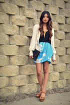 camel Jeffrey Campbell clogs - aquamarine Yumi Kim skirt