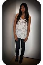 f21 top - Kova & T jeans - nikfine on ebay necklace