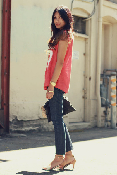 navy Kova & T jeans - red number shirt Zara t-shirt