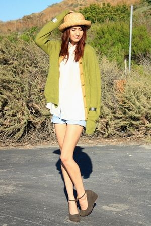 green vintage sweater