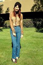 blue vintage jeans