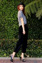 black Chinese Laundry shoes - silver Piko t-shirt - black thrift pants