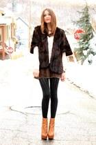 vintage dress - Lush blouse - vintage cape - Steve Madden heels