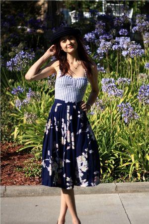 blue thrift skirt