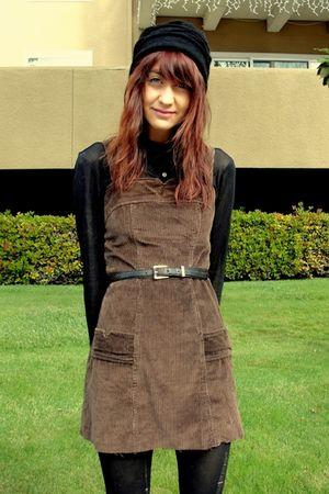 brown vintage dress