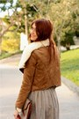 Light-brown-piko-jacket-brown-vintage-skirt-tawny-vintage