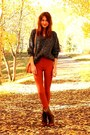 Dark-brown-steve-madden-boots-black-thrifted-sweater-tawny-vintage-pants