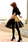 Black-thrifted-blouse-gold-vintage-skirt-black-chinese-laundry-shoes
