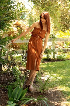 brown vintage skirt
