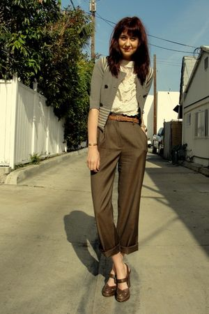 brown vintage pants