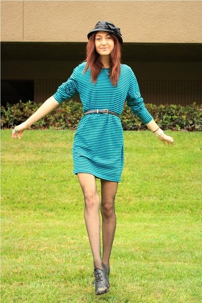 green thrift dress