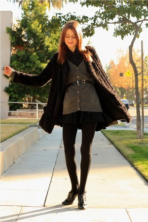 Urban Outfitters sweater - seychelles shoes - piko 1981 jacket