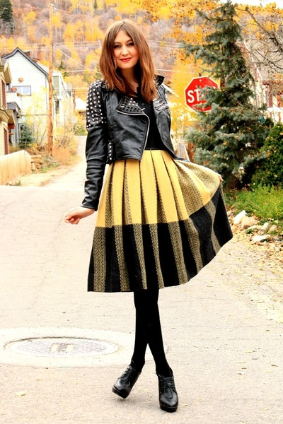 vintage skirt - jacket - vintage blouse